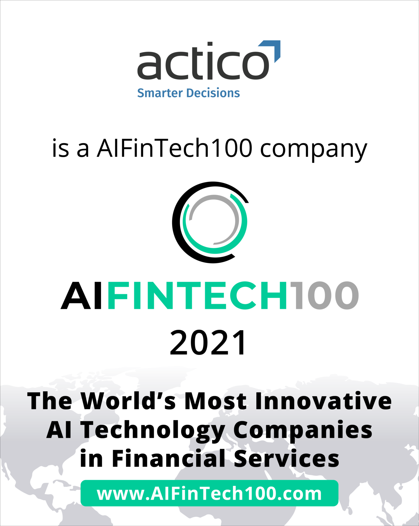 ACTICO makes the Global AIFinTech100